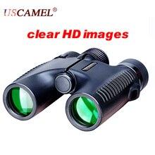 Discount! USCAMEL HD 10×26 Binoculars Powerful Zoom Long Range 5000m Professional Waterproof Folding Telescope Wide Angle Vision Hunting