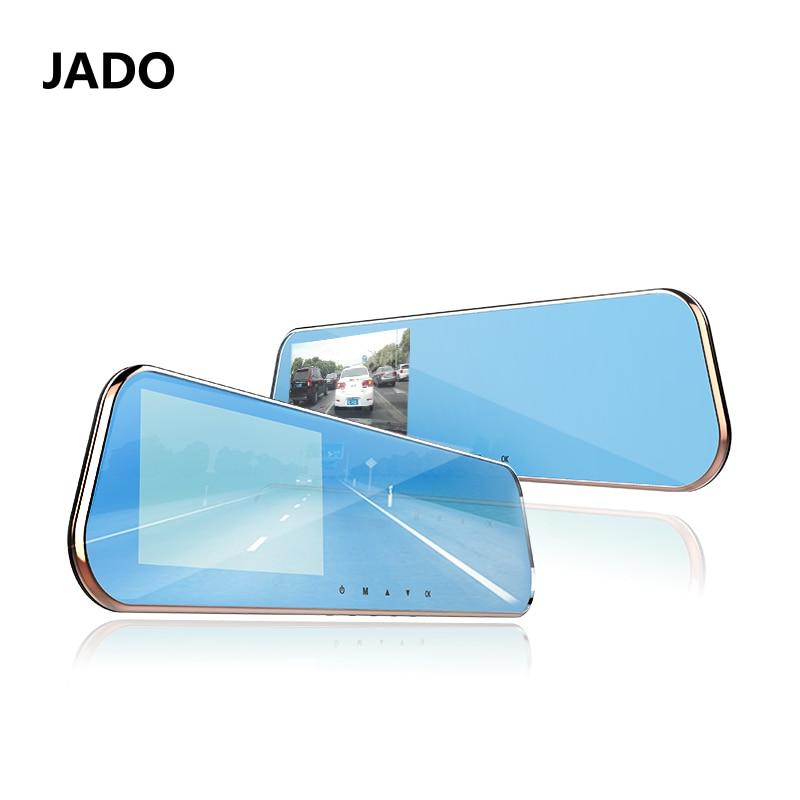 JADO Car Dvr 5.0 IPS Screen Full HD 1080P Car Dvrs Dual Lens Recorder Car Camera Dashcam Rearview Mirror Registrar jado d600 автомобиля камера full hd 1080 p автомобильные видеорегистраторы dashcam парковка мониторинг registrar 4 3 автомобильны