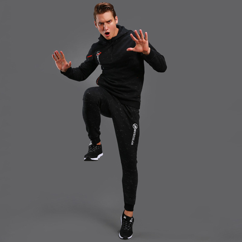 2017 New Winter Warm Sport Suit Men Running Set Outdoor Jogging Gym Fitness Sport Suits Basketball Trainning Clothes Running Set