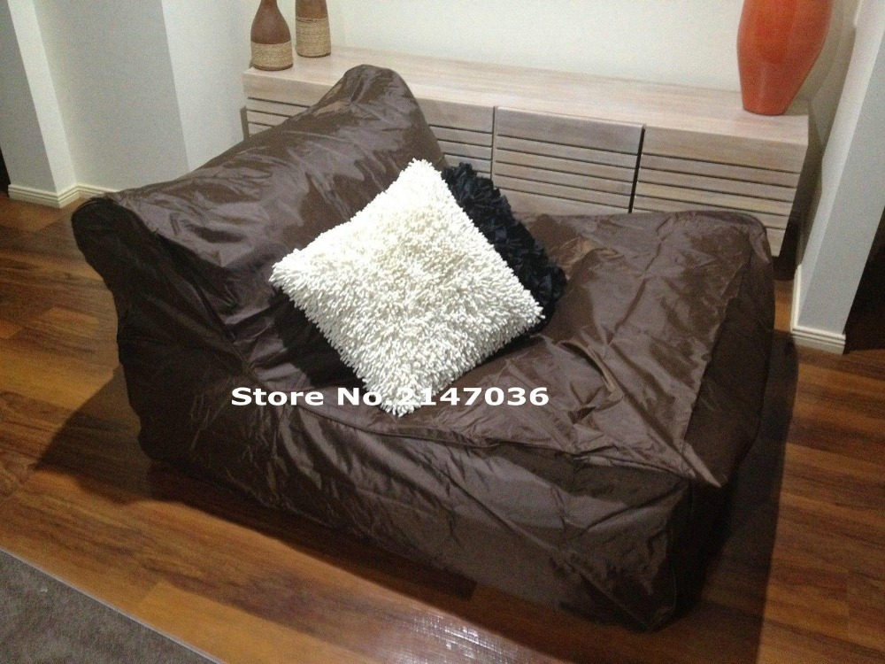 Get comfty with fillings bean bag chairs relax and cozy living room BROWN sofa beanbag cover