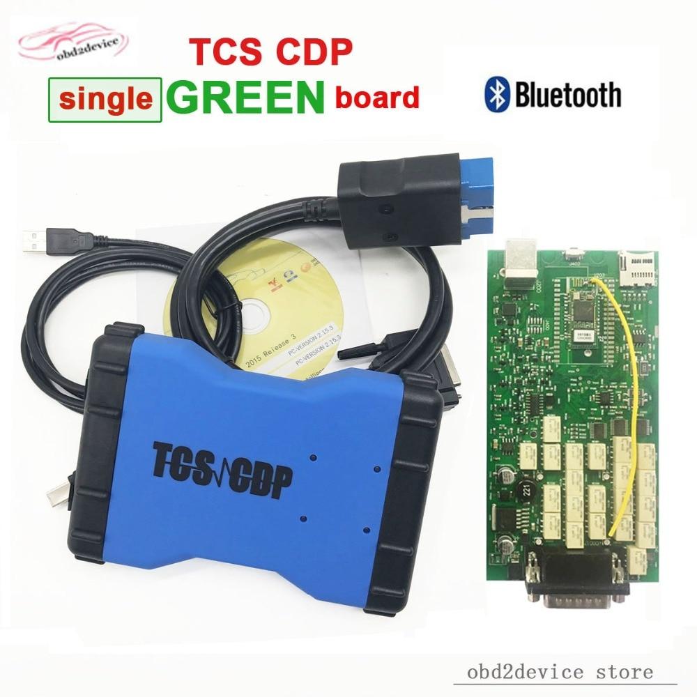2018 TCS CDP Pro Plus Single Board With Bluetooth+Keygen TCS CDP PRO Plus OBD2 Scanner tcs cdp12V/24V CAR+TRUCK Free ship 2016 dhl free 10pcs tcs cdp pro plus truck cables 8 cables for tcs truck scanner