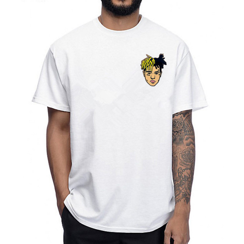New Arrival Fashion Rap T Shirts Xxxtentacion Snoop Dogg Drake J Cole 21 Savage Oxxxymiron Hip Pop Man Rapper Pocket T-shirt image
