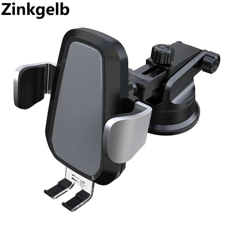 Support pour chargeur sans fil de voiture pour iPhone X XS XR 8 Plus tableau de bord de montage 10 W Qi chargeur rapide sans fil de téléphone de voiture pour S9 S10