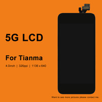 10pcs DHL for Tianma Quality For Phone 5 5G LCD Touch Screen Digitizer Assembly Black&White Color LCD Display+Camera Holder