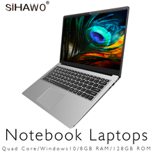 Ноутбук 15,6 «ультрабук с Windows 10 Игровые ноутбуки Intel Celeron J3455 Тетрадь компьютер с четырехъядерным процессором 6 ГБ Оперативная память 128 Гб 256 ГБ 512 ГБ SSD
