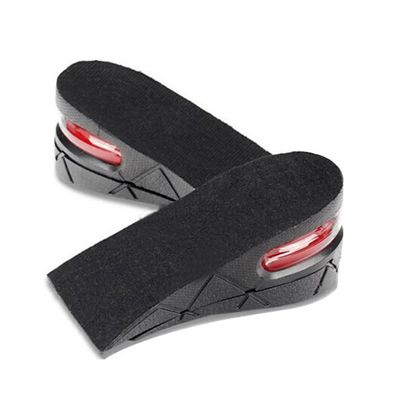 High Quality FooT Massage Pad 1 Pair 2 Layers Heel Inserts Lift Height Increase 2-5CM Taller Shoe Pads For Women TN