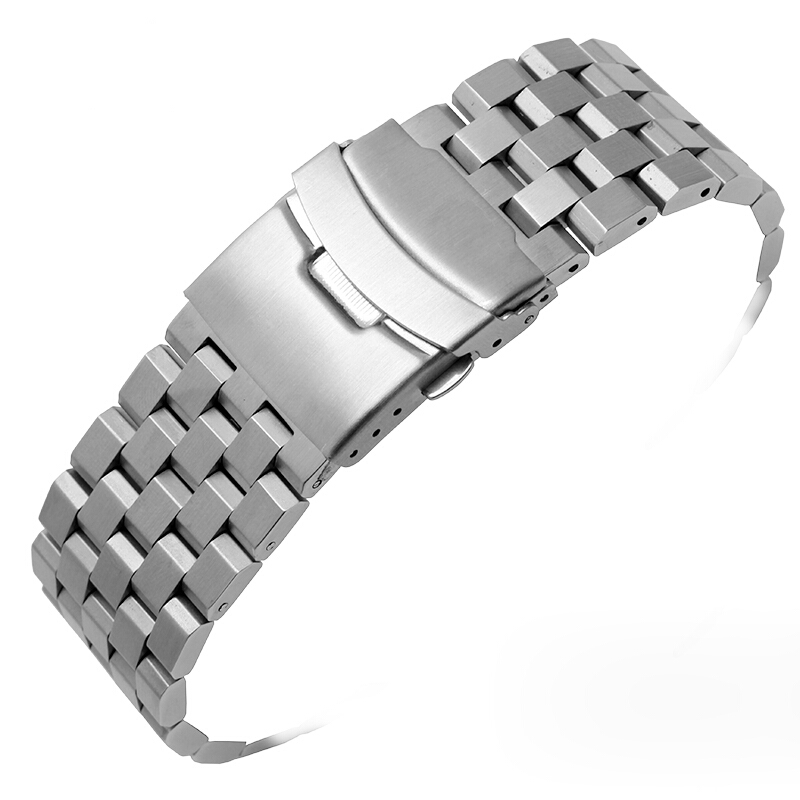 GD12 22 24mm Stainless Steel Strap Wrist Watch Bracelet With Folding Clasp Hot Men Metal Watchband For Armani/IWC/Fossil/SSC081 stylish 8 led blue light digit stainless steel bracelet wrist watch black 1 cr2016