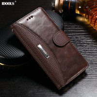 Case For Huawei P10 Lite Luxury PU Leather Magnetic Dirt Resistant IDOOLS Cover Phone Accessories Bags