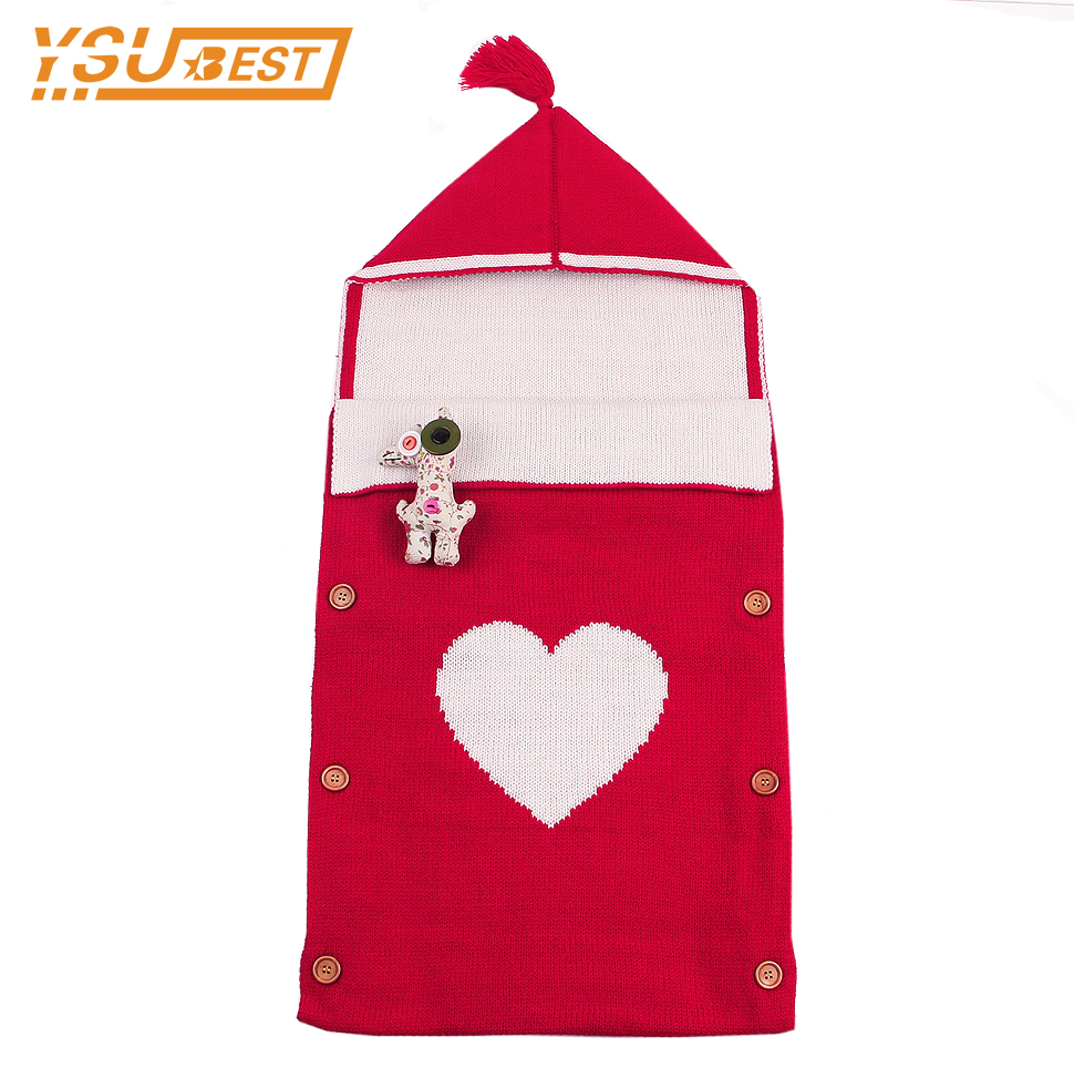 0-12M Baby Kids Toddler Knit Swaddle Sleeping Bag Spring Autumn Newborn Boys Girls Hoody ...