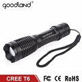 Goodland CREE XM-L T6 LED Flashlight 18650 Torch Light Lamp Zoomable 5-Mode Tactical LED Flash Light Powerful Linterna LED E6