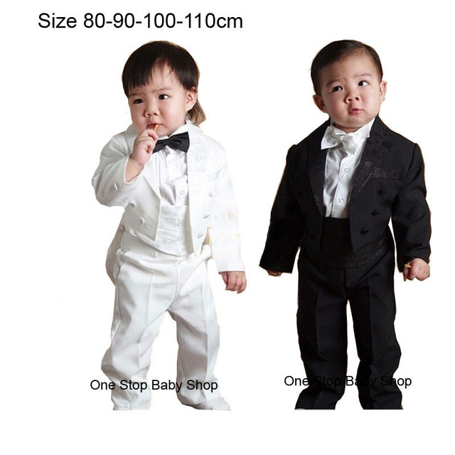 1 4 Years Infant Toddler Boys 5 Piece Tuxedo Clothes Sets Baby Tuxedos Weddings Party