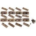 20 Unids 30x17mm Bronce Antiguo Gabinete Bisagras para Ataúdes Accesorios Para Muebles Cajón Muebles Bisagras para Cajas de Joyas accesorios