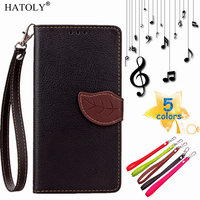 HATOLY For Huawei Y5C Flip Case Leaf Leather Case for Huawei Y541 Wallet Cover For Huawei Honor Bee Phone Shell Card Holder