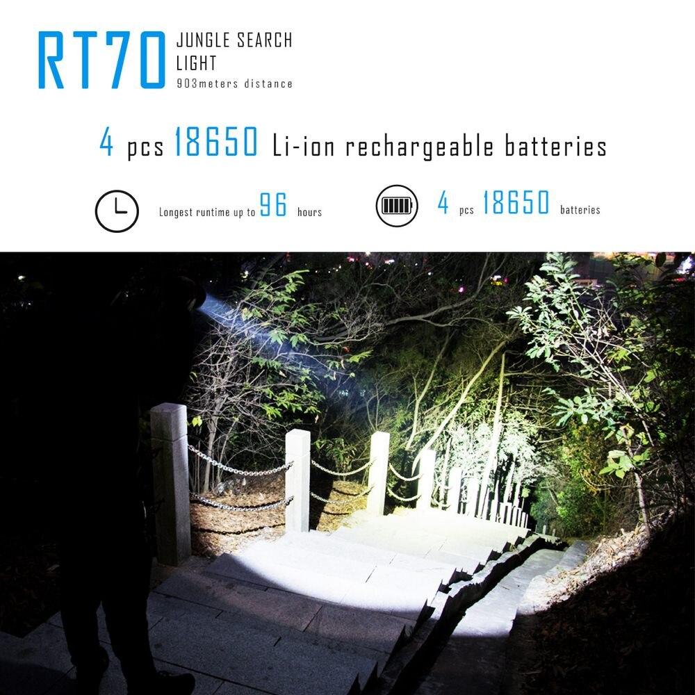 Imalent RT70 5500 Lumens USB Charging LED Camping Jungle Search Flashlight