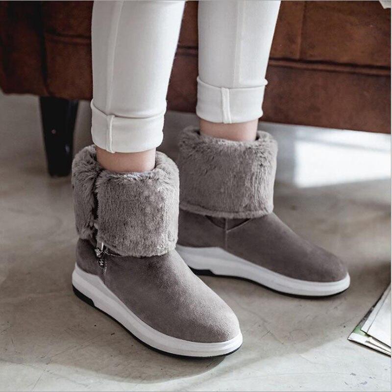 Nouveau femmes chaussures de neige d'hiver bottes de neige chaud en peluche antidérapant bas thermique imperméable unisexe bottes de Ski taille