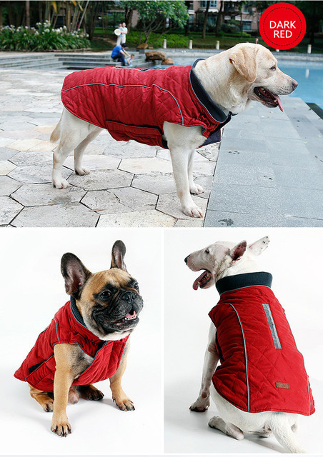 Dog Coat Water Repellent Winter Jacket Vest