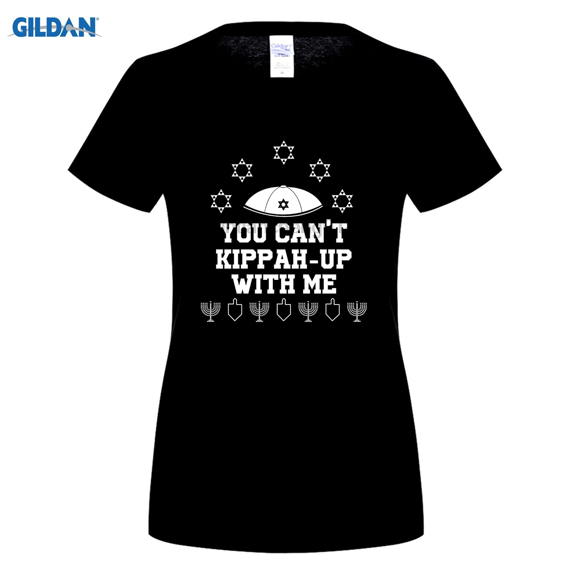 GILDAN Cant Kippah Up With Me T-Shirt Jewish Hanukkah Ugly Sweater women ...