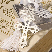5 pcs/lot Cute Cross Love Silver Metal Bookmarks Creative Gift for Wedding High quality Gift Pakage Wholesale 01408