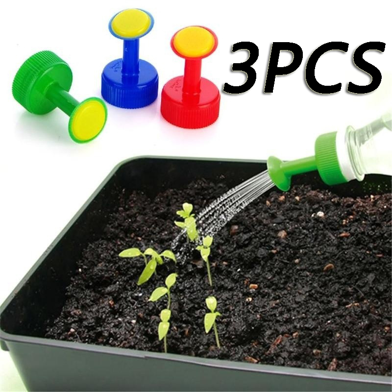 3pcs Gardening Plant Watering Attachment Spray-head Soft Drink Bottle Water Can Top Waterers Seedling Irrigation Equipment