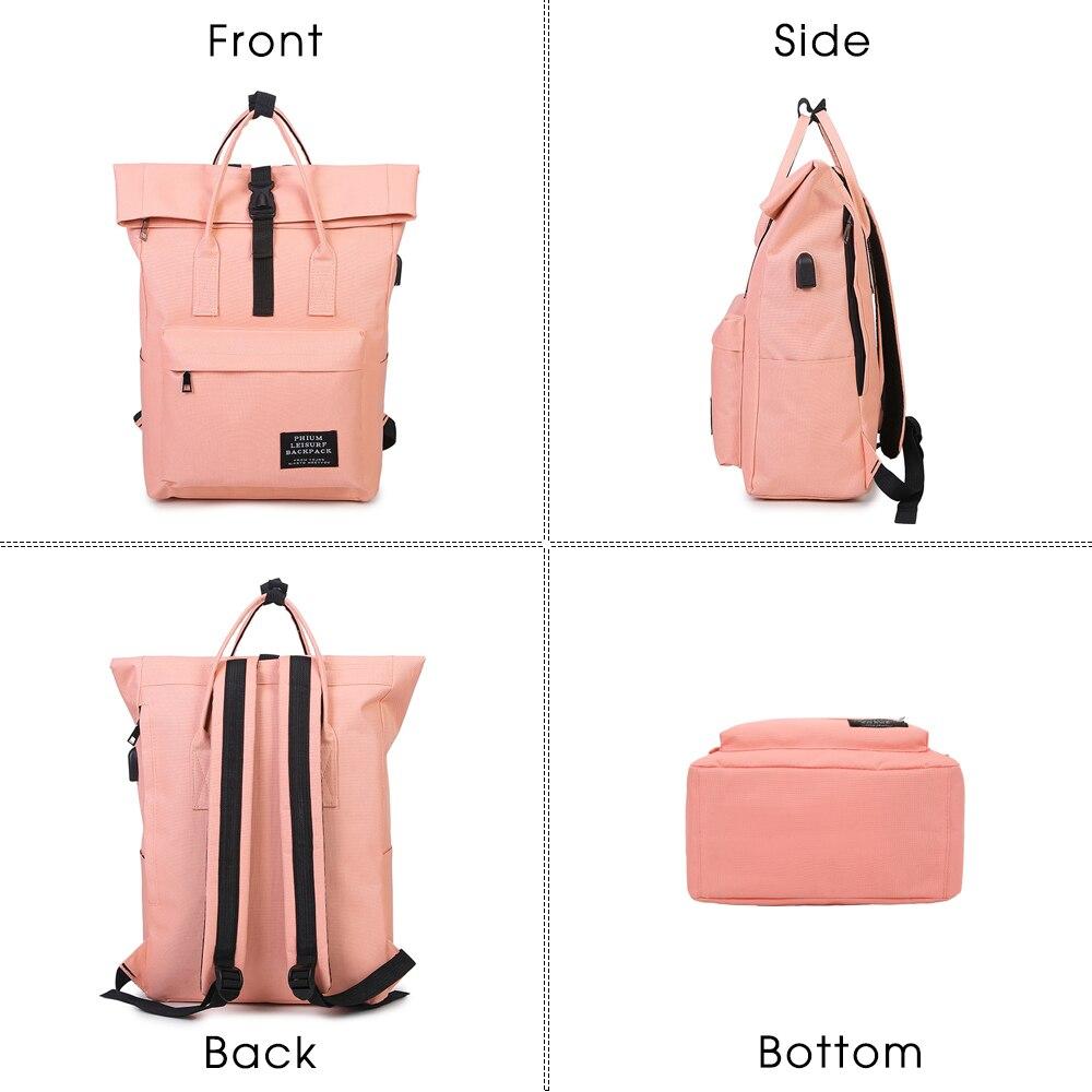 TTOU Women External USB Charge Backpack Canvas School Backpack Mochila Escolar Girls Laptop Backpack TTOU Women External USB Charge Backpack Canvas School Backpack Mochila Escolar Girls Laptop Backpack