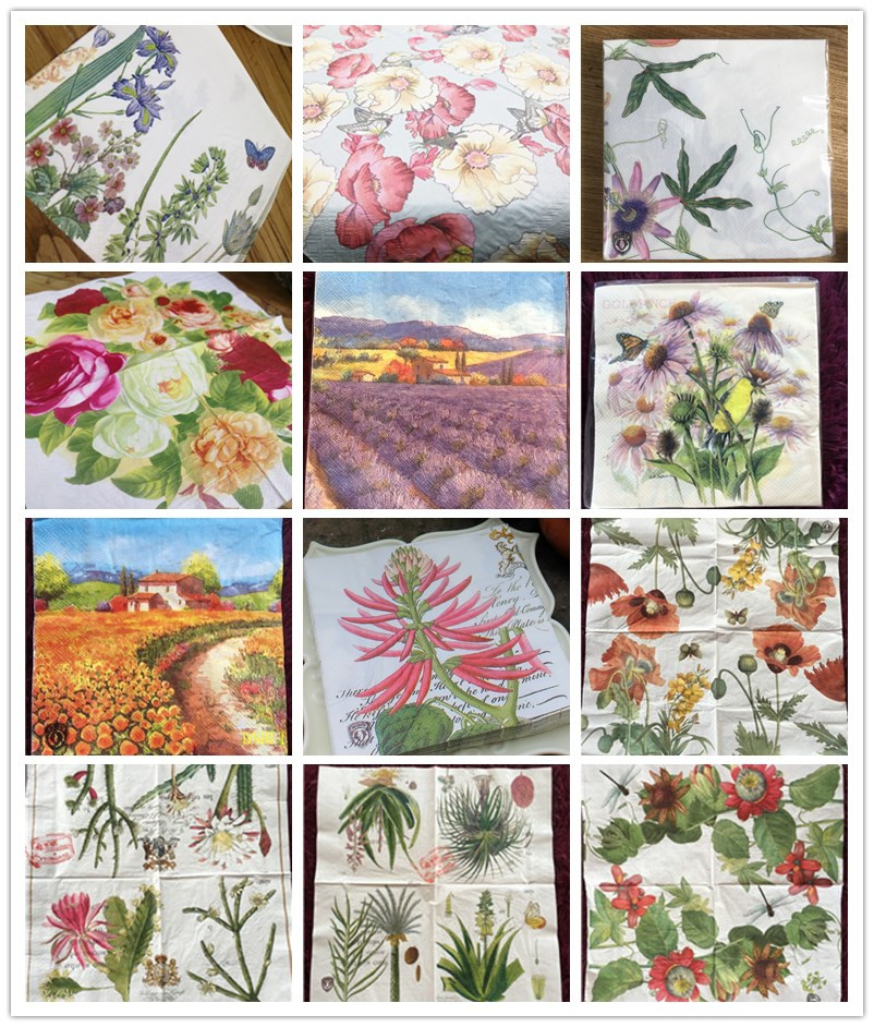20 Vintage Table Napkins Paper Tissue Printed Flower Butterfly Bird Decoupage Wedding Birthday Party Home Cafe Decor Serviettes