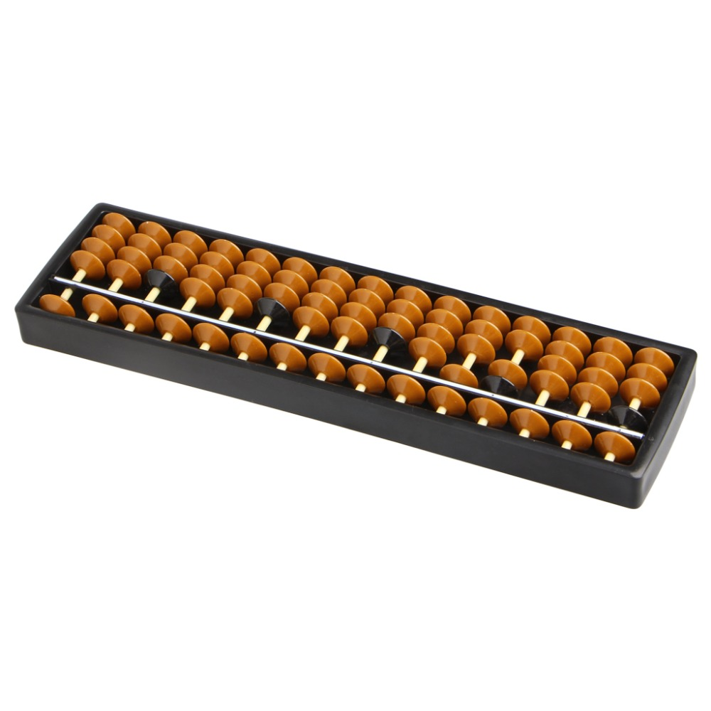New Plastic Abacus 15 Digits Arithmetic Tool Kid's Math Learn Aid Caculating Toys Gifts #K4UE# Drop Ship