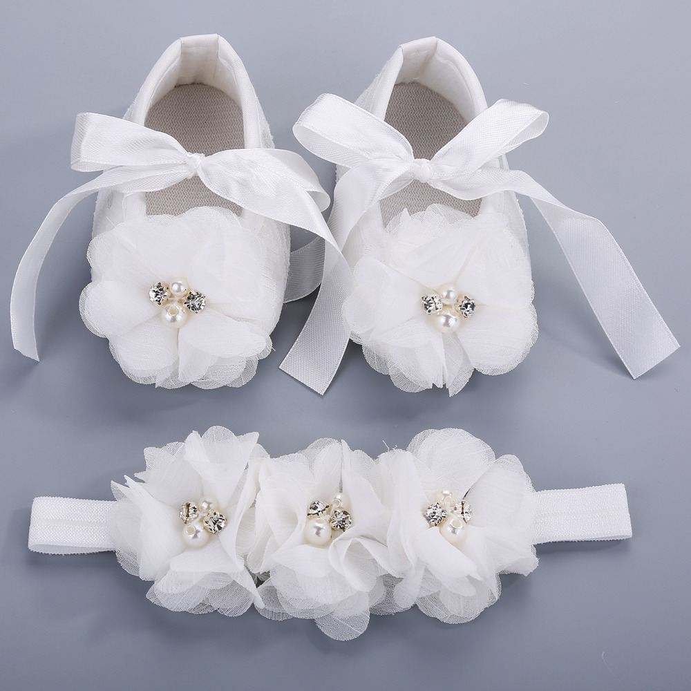 8c3322da590 Detail Feedback Questions about Party Christening Baptism Kids Girls Shoes  For Baby Set Rhinestone Girl Baby Shoes First Walker