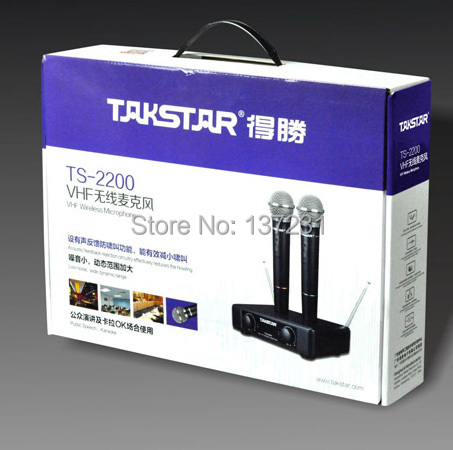 High Quality Takstar TS 2200 VHF wireless Microphone concert microphone for KTV Household karaoke TS 2200