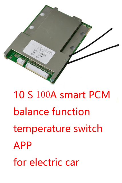 10 S 100A lipo de Polímero de litio BMS/PCM/PCB junta de protección de la batería de 18650 Celdas de Li-ion w/Balance w/APP