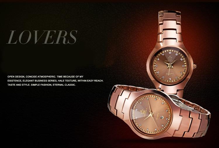 alta qualidade relógios femininos tungstênio aço relógio