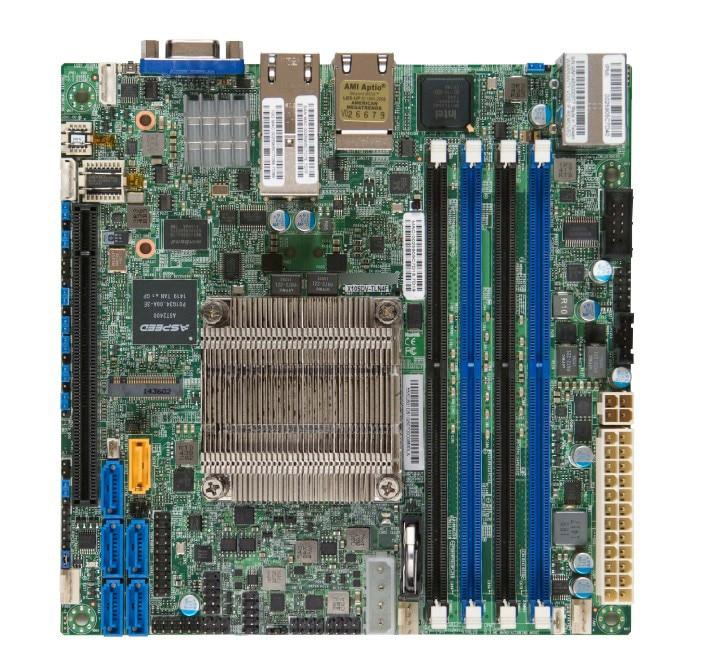 OEM X10SDV-8C-TLN4F Onboard D-1541 Eight-core Dual Gigabit Ethernet + Dual Gigabit Ethernet