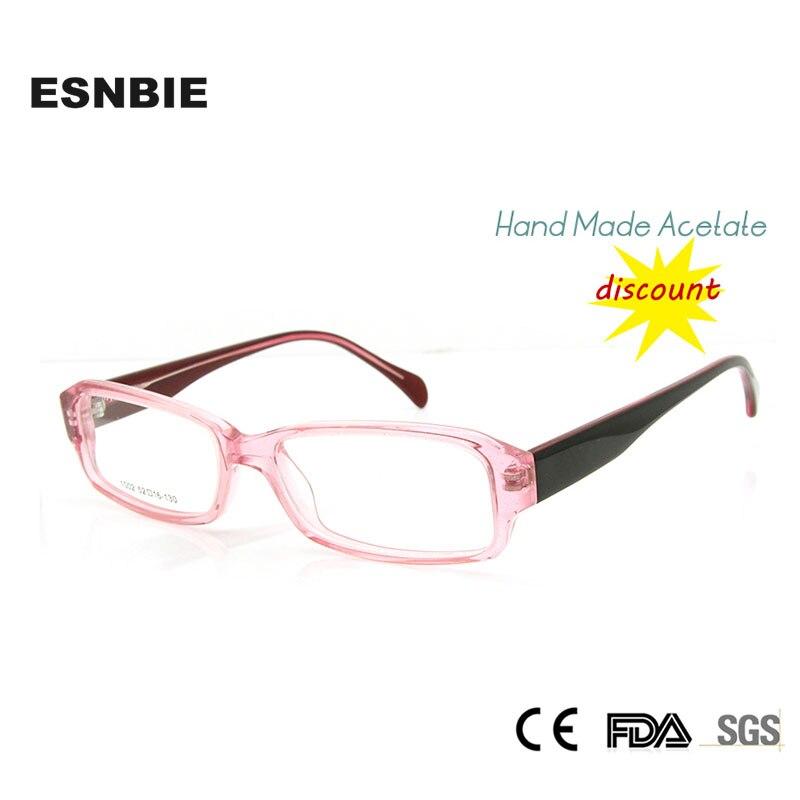 இESNBIE nuevo cuadrado gafas marcos para las mujeres Rectangular ...