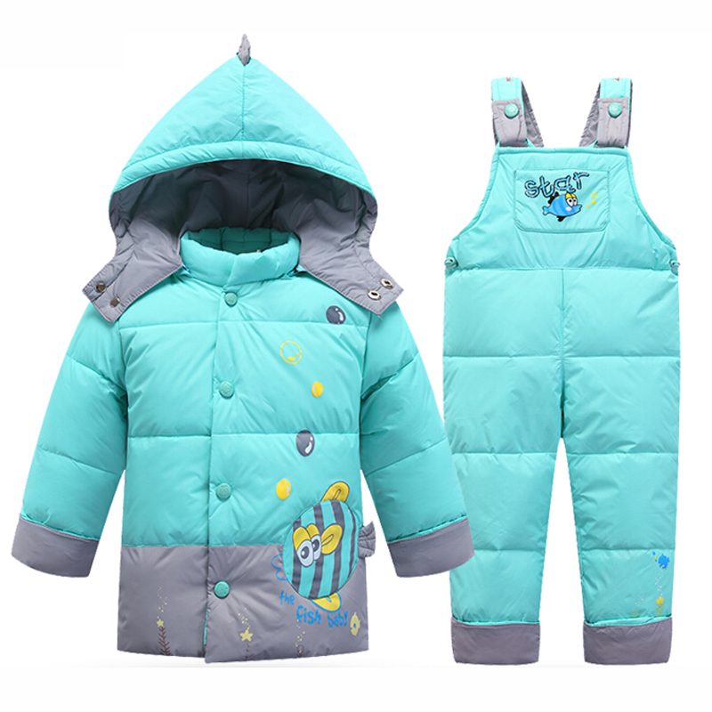 Girls real raccoon fur collar padded water proof jacket outwear winter snow jacket hot kids jackets + pants kids