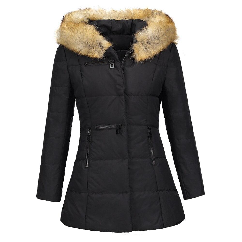 Sisjuly Толстовка Меховые карманы на Длина Для женщин пальто на молнии черные зимние парки тонкий карман толстый Шинель High Street куртка пальто