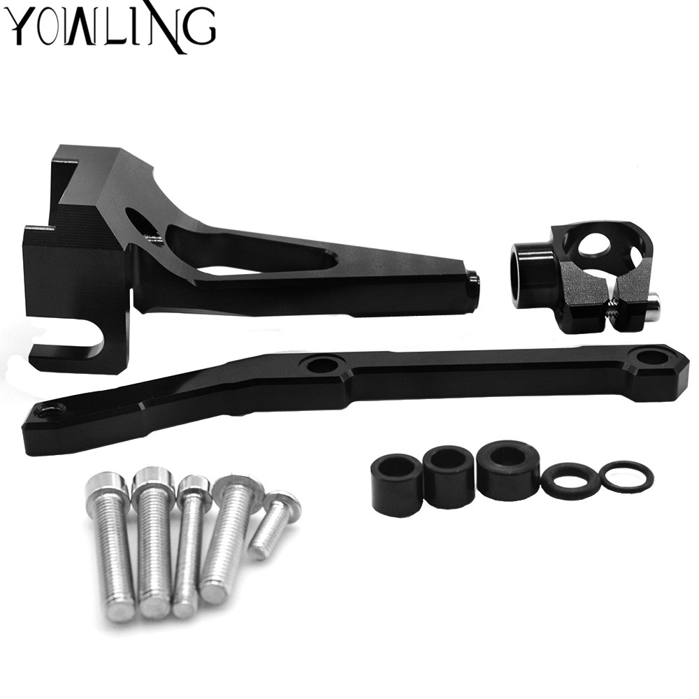 Motorcycle Steering Stabilize Damper Bracket Mounting Kit Anti-vibration Support For MT09 MT-09 MT 09 FZ09 FZ 09 FZ-09 2013-2017