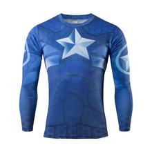 Moto 2016 new anime superman captain America fitness T-shirt breathable avengers alliance T-shirt leisure T-shirt