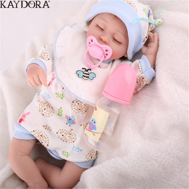 KAYDORA Silicone Reborn Babies Real 16inch Reborn Dolls Toy With Handmade Clothes Sleeping Bathable Toy For Boy