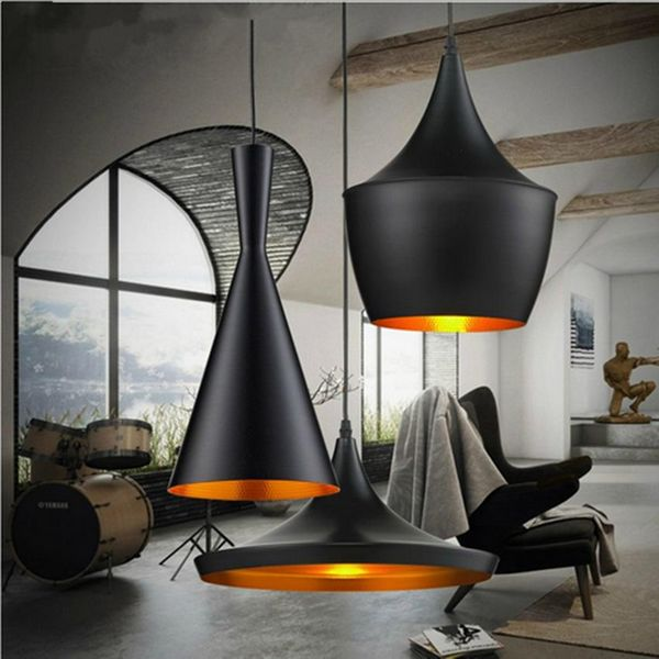 Vintage Industrial Horn Shape Light Hanging Single Chandelier Lamp 3 Type Lighting Restaurant Bar Bedroom Hanging Lamps