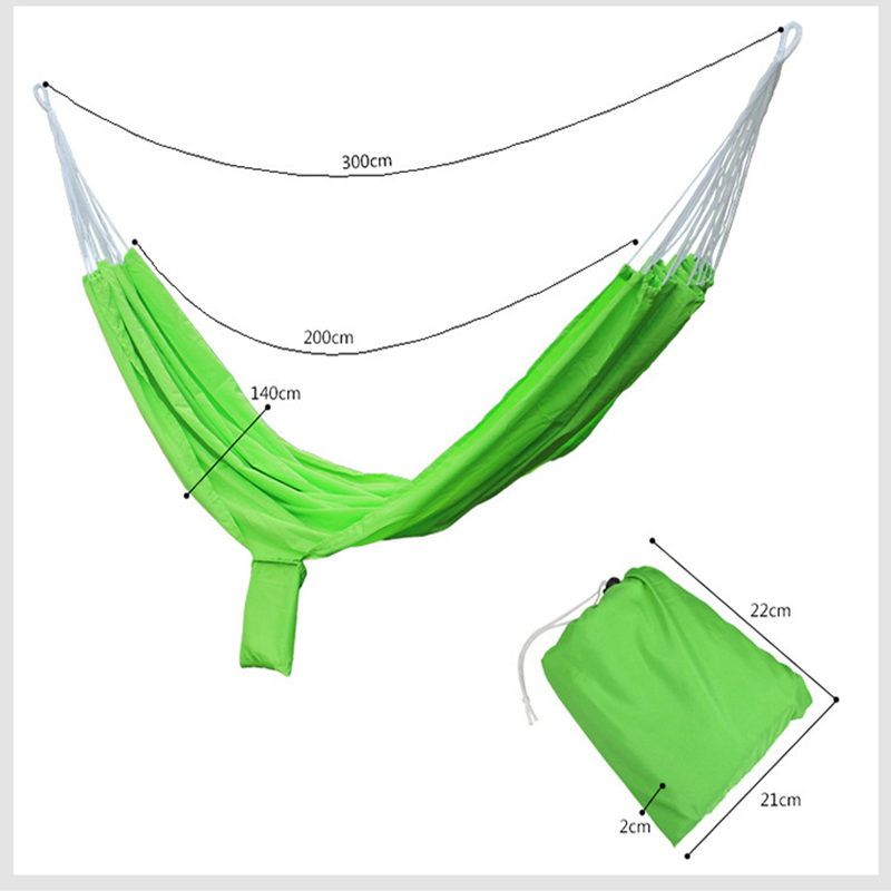 Image 4 - VILEAD Stable 200*140 Hammock Ultralight Canvas Camping Hammock Bed Wood Stick Outdoor Garden Swing Hanging Chair Hiking Gear-in Camping Cots from Sports & Entertainment