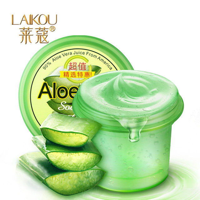Free Shipping Laikou Aloe Vera Gel to blain to imprint blain scar concave hole acne Cream 120g oil control shrink pores