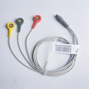 Image 2 - Câble en fil délectrode pour moniteur Ecg de cœur Portable, Prince 180B et PC 80B