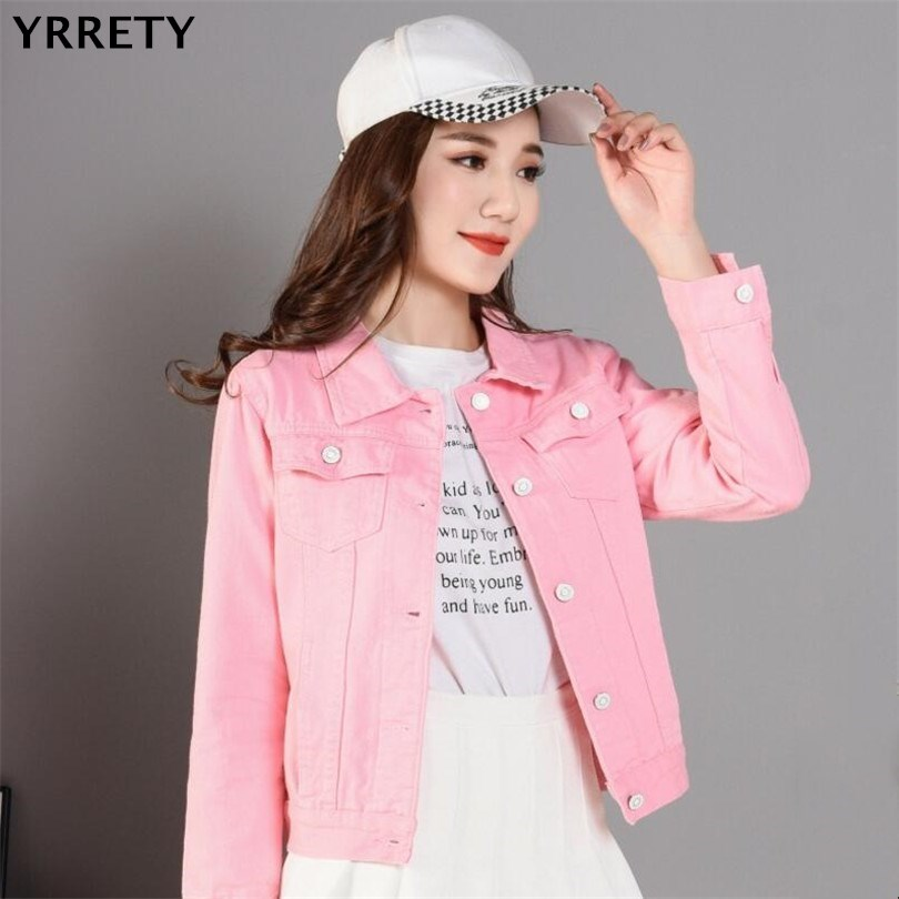 YRRETY Women   Basic   Coats 2018 Spring Summer Ripped Denim   Basic     Jackets   Femme Vintage Long Sleeve Jeans   Jacket   Casual Outwear