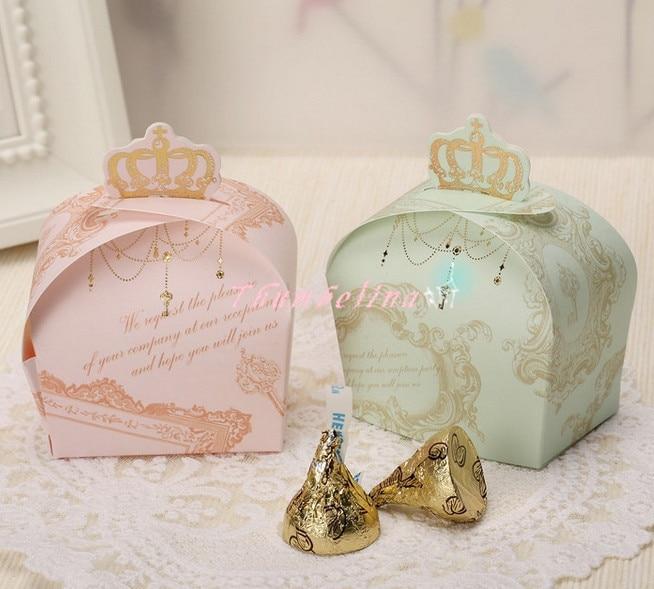 Royal Wedding Gifts: Royal Crown Design Sweet Candy Chocolate Cookies Box