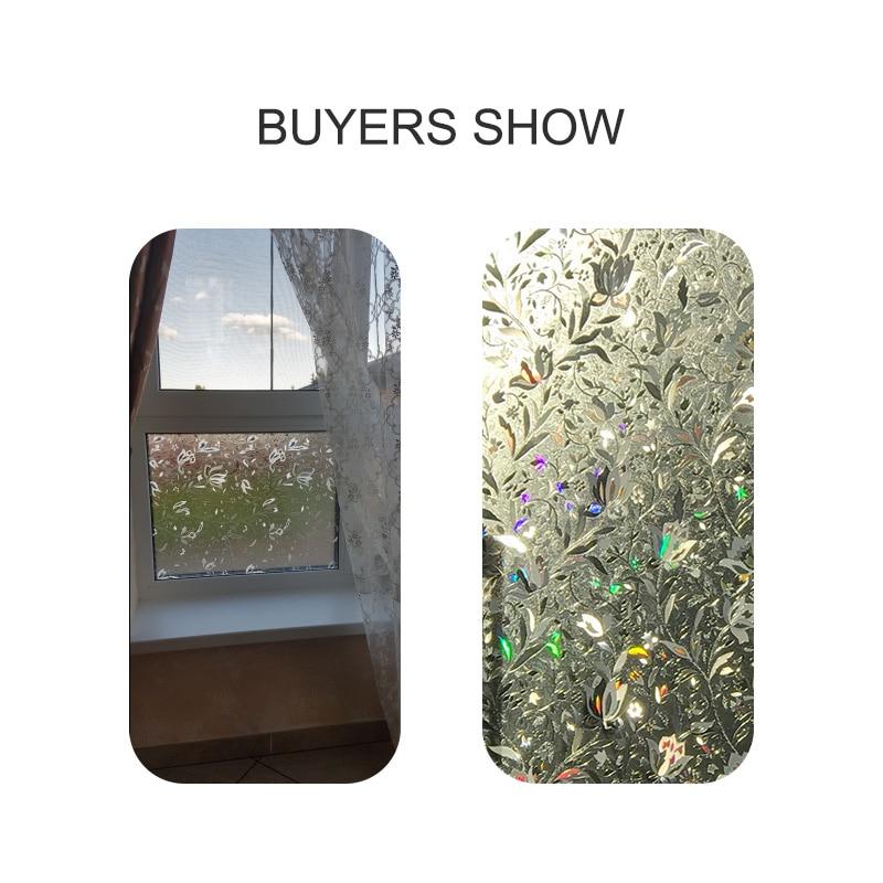 CottonColors PVC Fenstertönungsfolien No-Glue 3D Static Flower - Wohnkultur - Foto 3