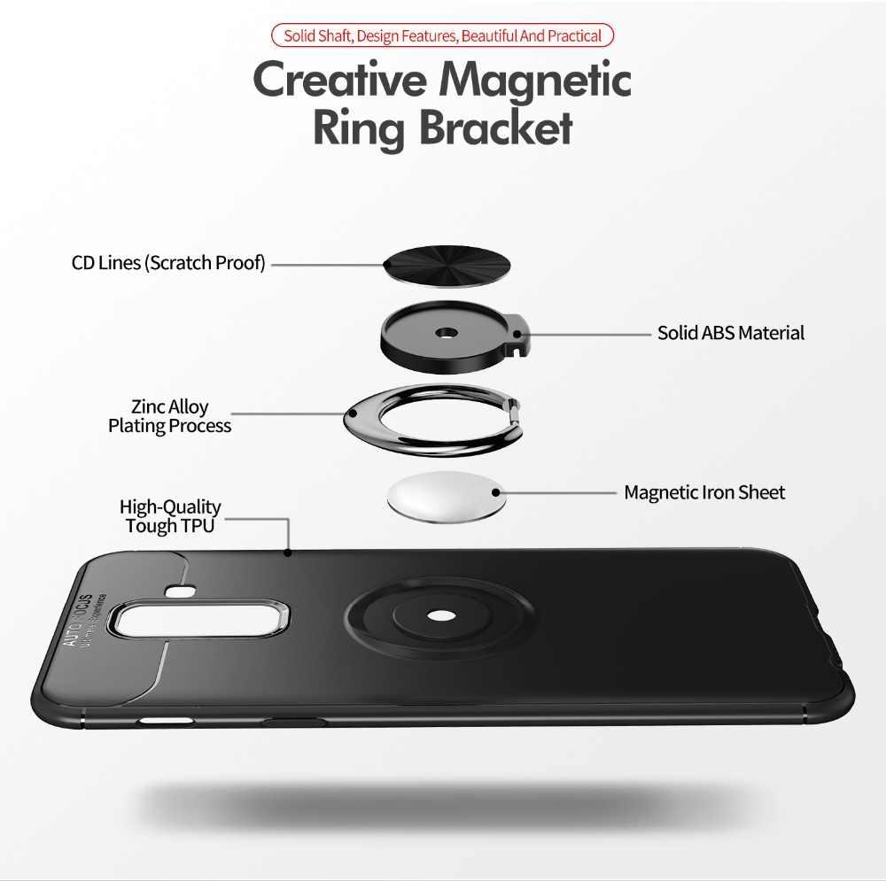 Funda para Samsung Galaxy A7 2018 funda magnética con anillo para Samsung S9 S9Plus funda para Galaxy Note 9 funda de Note 8