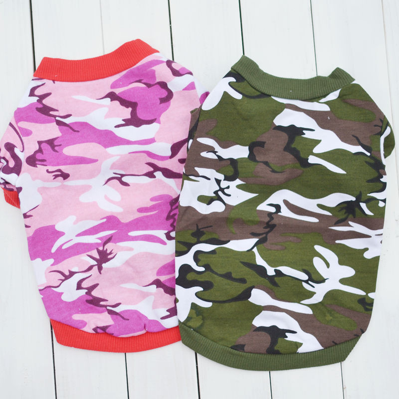 New Fashion Camouflage Cat Costumes suit clothes Army Green Pink Vest Clothes Pet Puppey Product For Dog Cat Spring Autumn