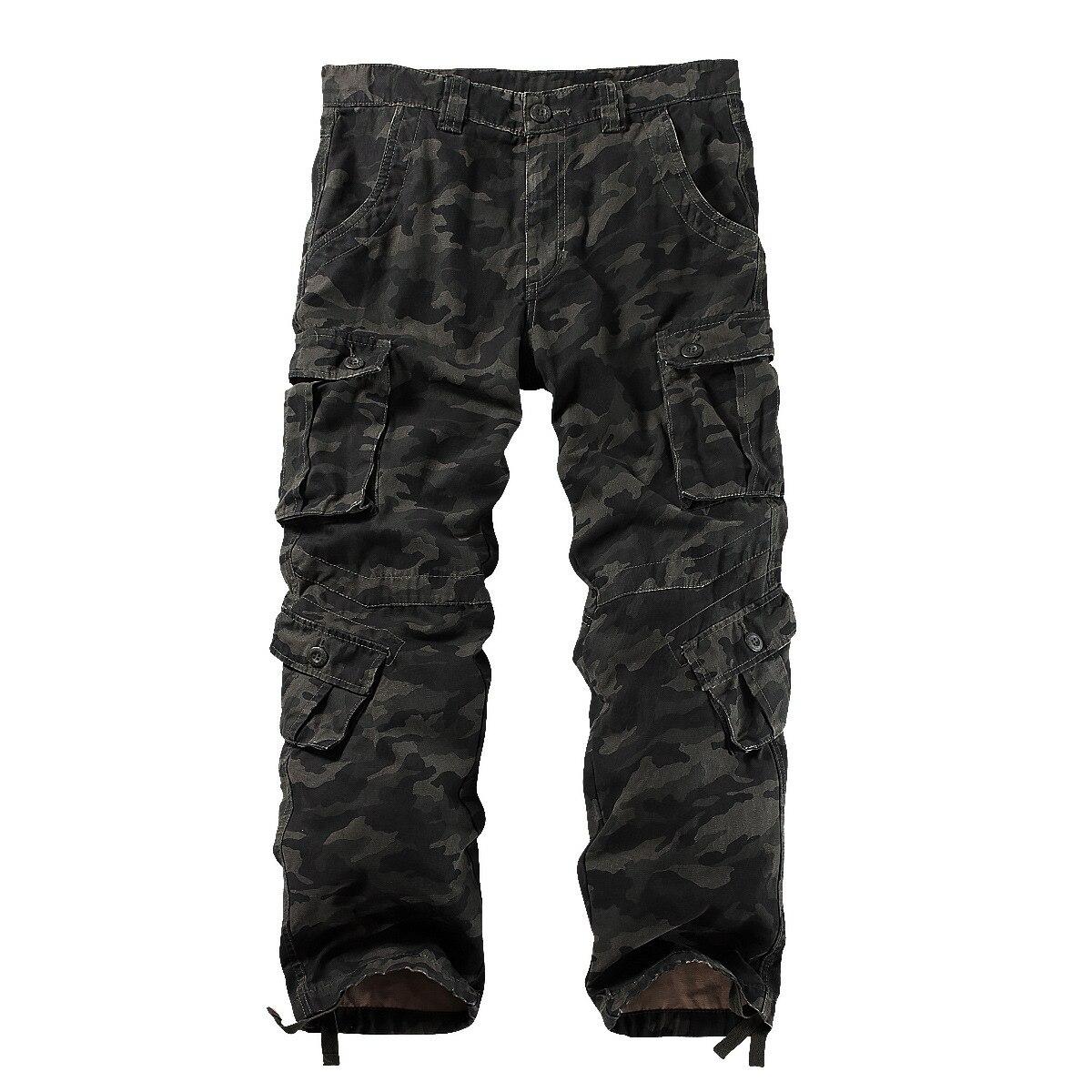 Pantalon Cargo militaire en coton pour hommes, 8 poches pantalon de Combat de travail décontracté homme armée militaire Camo Cargo pantalon grande taille 40 42 44 - 6