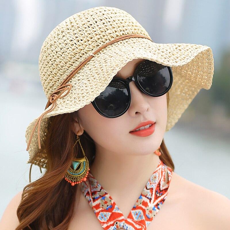 Princess Sweet Straw Hat Vuxen Mjuk Straw Sun Cap Flickor Beach Sun - Kläder tillbehör - Foto 2
