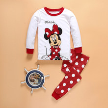 Kids Clothes Children Clothing Set Toddler Kids Pajamas Sets Mickey Minnie Nightwear Printing Pajamas Baby Girl Sleepers Clothes(China)