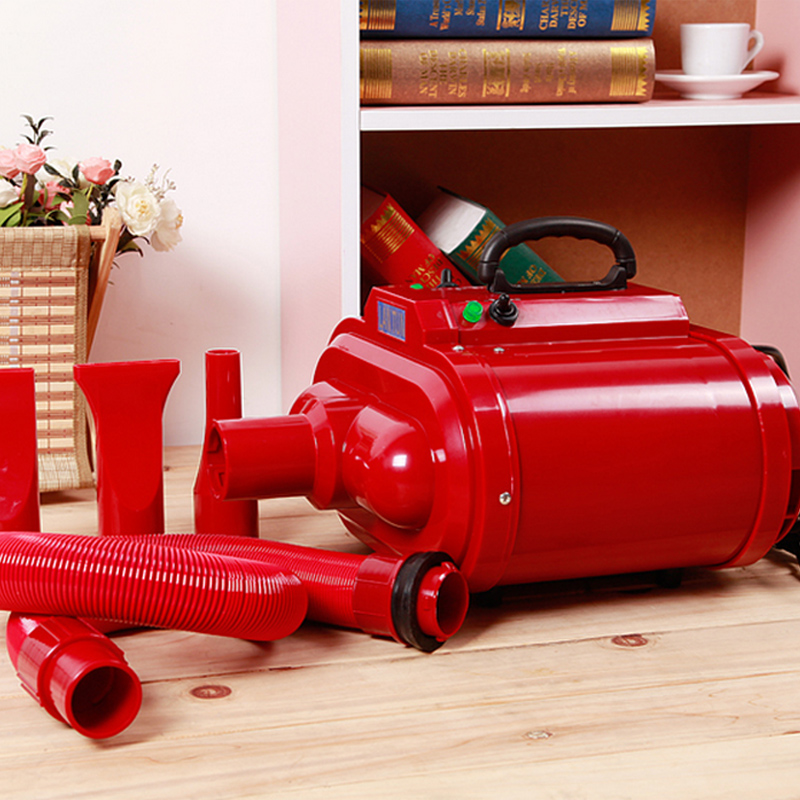 Hair Dryer Motors 2016 New High-power Pet Dog Hair Dryer Red Grooming Blower For Medium Large Dogs 220v/110v Dual Voltage 2800w  2017 new 5 in 1 sets brand cheap dog grooming dryer cheap pet hair dryer blower 220v 110v 2400w eu plug pink blue color